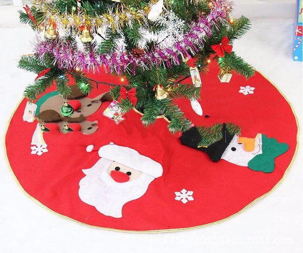 Christmas Tree Skirt High Grade Hotel Decoration Layout