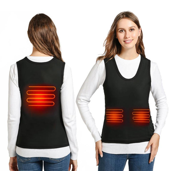 3 Adjustable Temperature Levels Electric Infrared Abdomen Back Heating Vest For Outdoor, Hiking, Cycling, Skiing