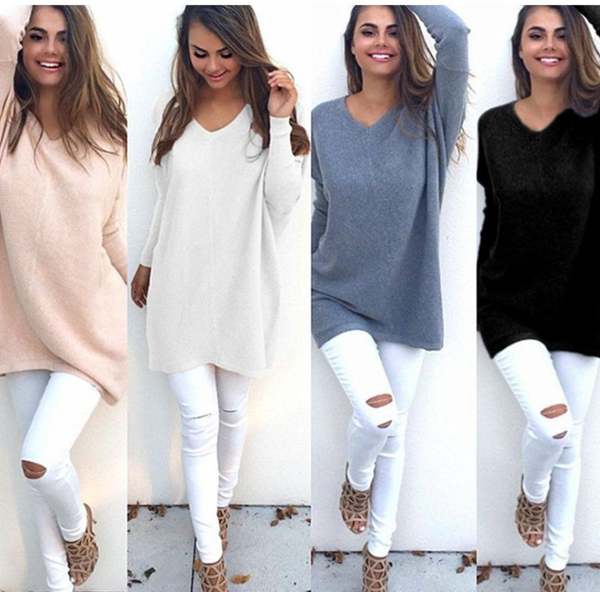 V-Neck Warm Casual Sweater