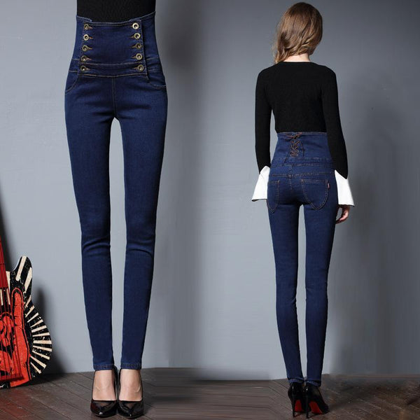 2020 European Women's High Waisted Jeans - Sherozh