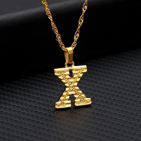 26 Letters Gold-Plated Pendant Necklace