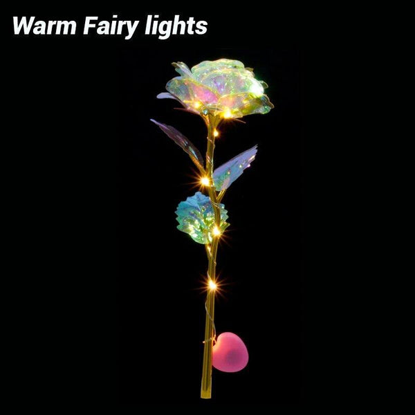 Romantic Colorful LED Fairy Rose