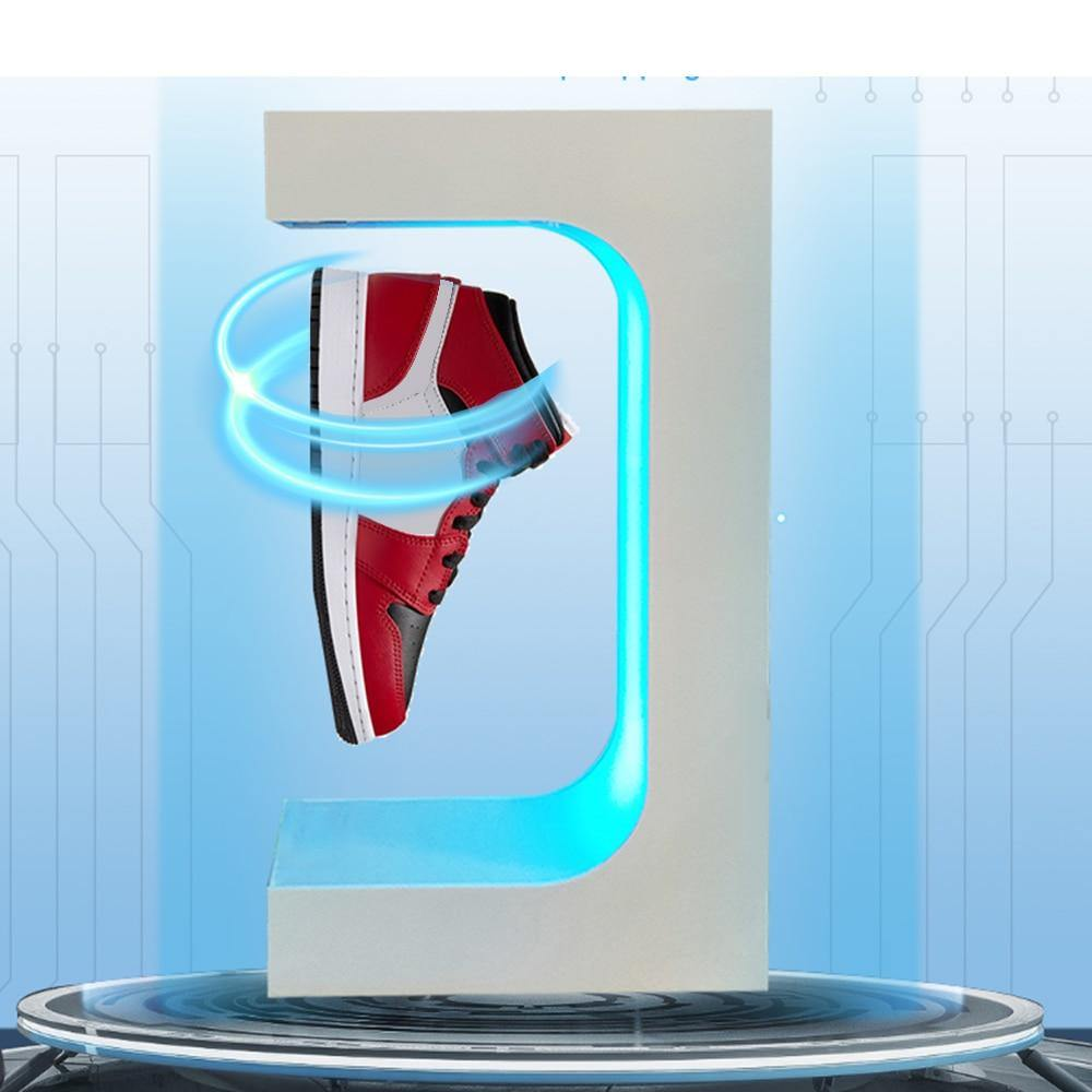 Magnetic Levitation Floating Shoe 360 Degree Rotation Display Stand Cabinet  Holds 500g ,Levitating Gap 20mm