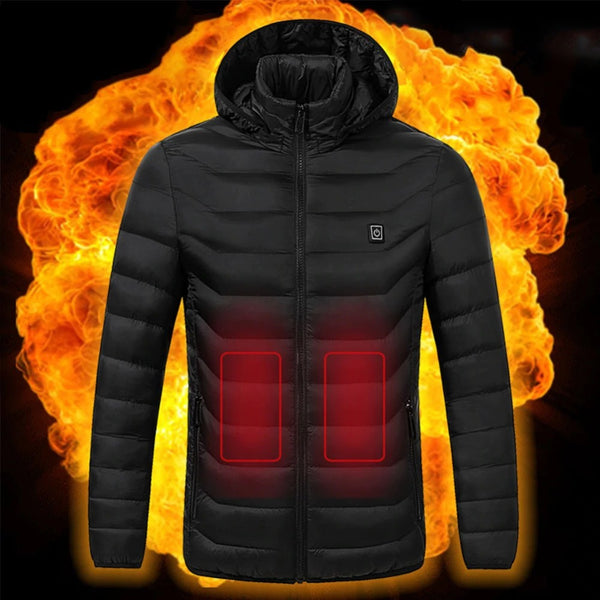 Unisex Infrared Electric Heating Hooded Winter Jackets