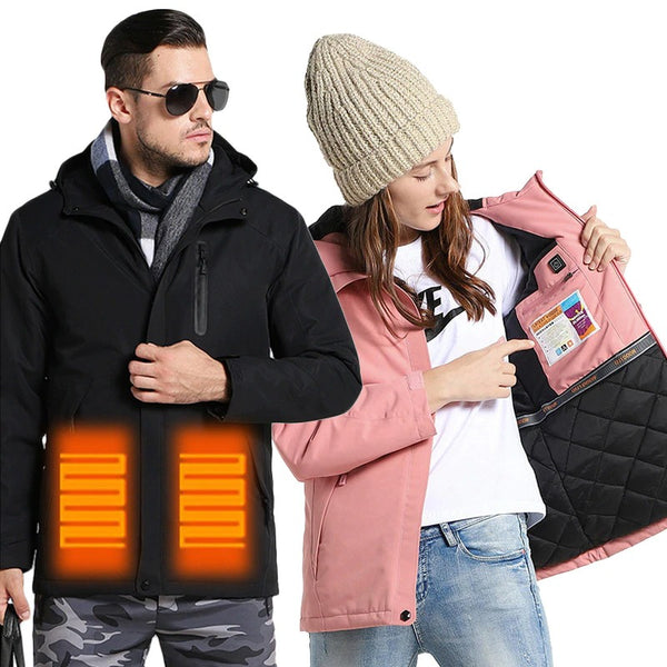 Waterproof Outdoor Electric Heated Infrared  Unisex Jacket For Winter