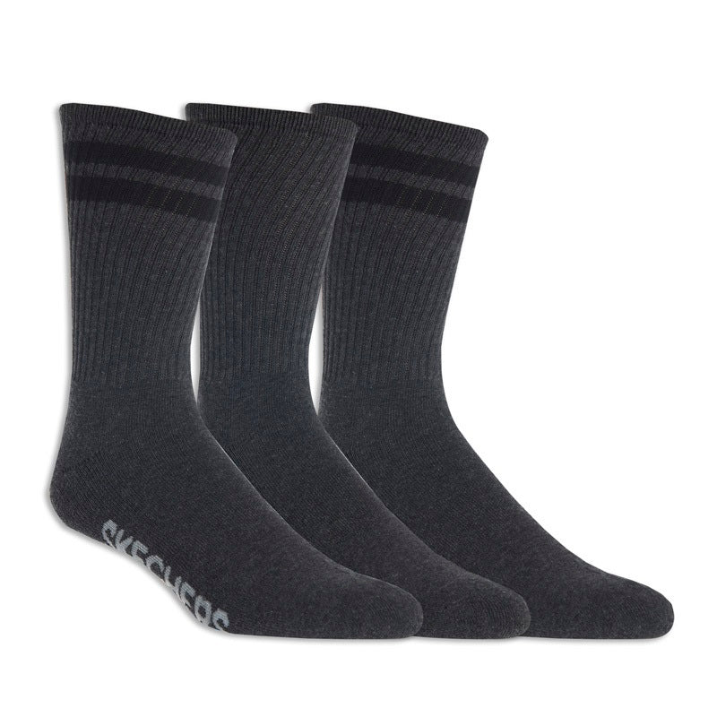 Men's 3PK MENS 1/2 TERRY CREW