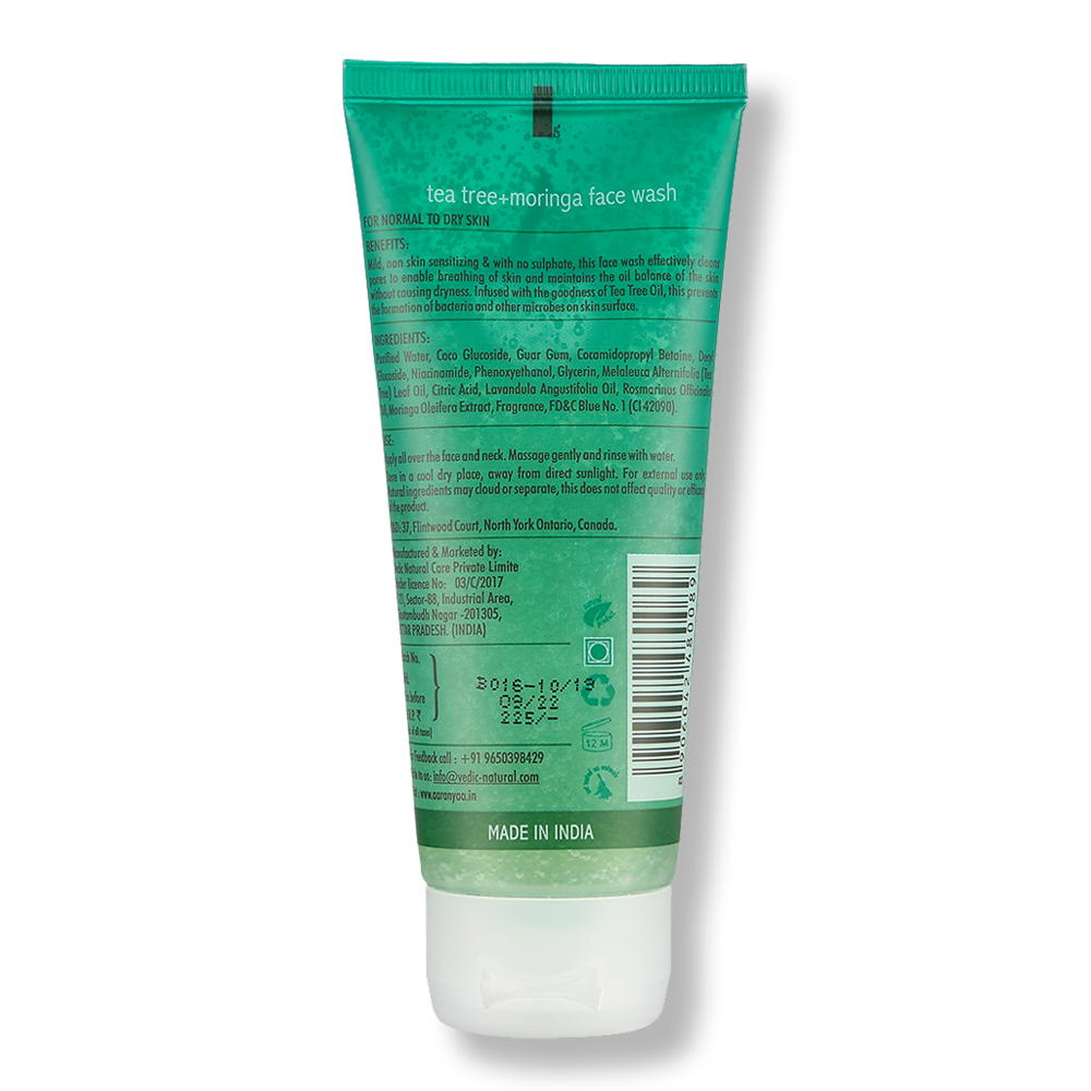 Face Wash Tea Tree + Moringa