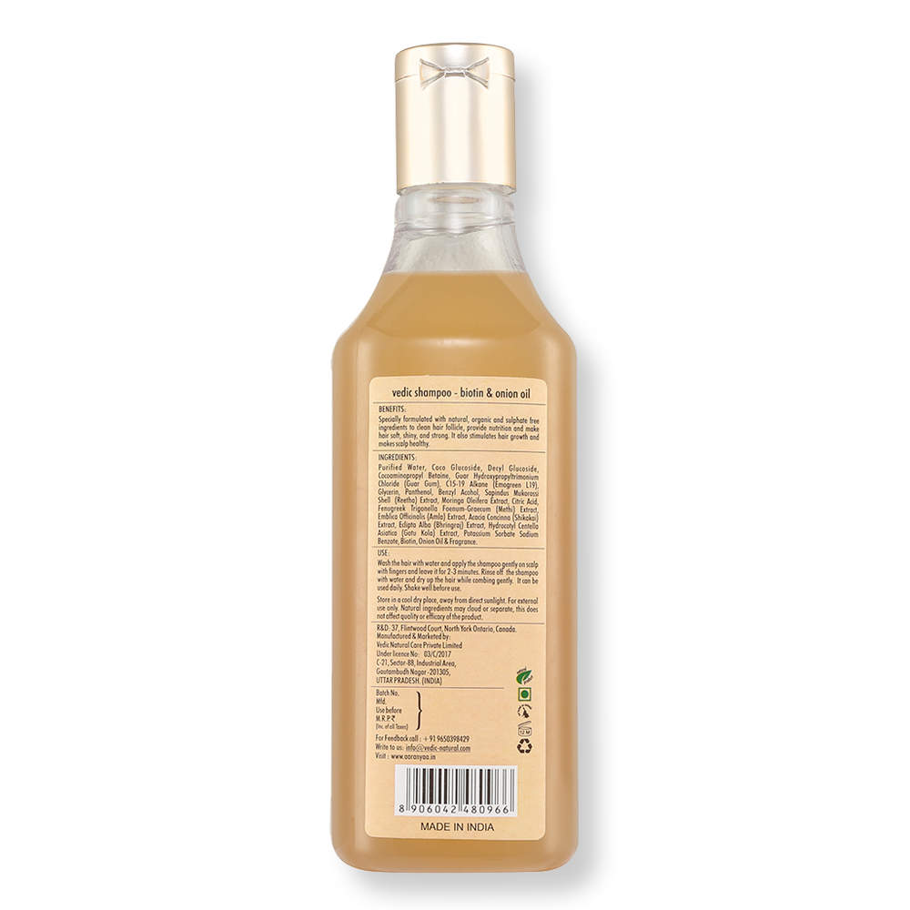 Vedic Shampoo With Biotin & Onion Oil