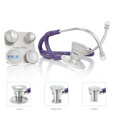 Load image into Gallery viewer, MDF® ProCardial® C3 Cardiology Stainless Steel Dual Head Stethoscope with Adult, Pediatric, and Infant-Neonatal Convertible Chestpiece (MDF797CC) - Purple