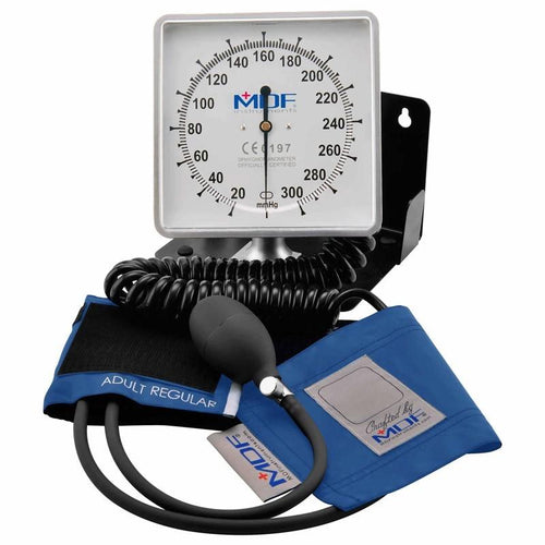 MDF® Desk & Wall Aneroid Sphygmomanometer - Bright Blue