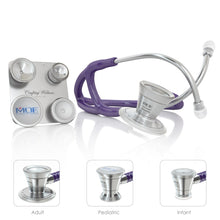 Load image into Gallery viewer, MDF® ProCardial® C3 Cardiology Titanium Dual Head Stethoscope with Adult, Pediatric, and Infant-Neonatal Convertible Chestpiece (MDF797CCT) - Purple