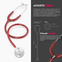 Load image into Gallery viewer, MDF® MD One® Epoch Titanium Stethoscope (MDF777DT) - Burgundy