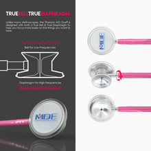 Load image into Gallery viewer, MDF® MD One® Epoch Titanium Stethoscope (MDF777DT) - Fuchsia