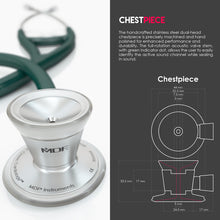 Load image into Gallery viewer, MDF® Classic Cardiology Dual Head Stethoscope with Stainless Steel Chestpiece and Headset (MDF797) - Green