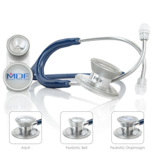 Load image into Gallery viewer, MDF® MD One® Epoch Titanium Stethoscope (MDF777DT) - Navy Blue