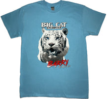 "Load image into Gallery viewer, Light Blue ""Barry White the Tiger"" T-Shirt"