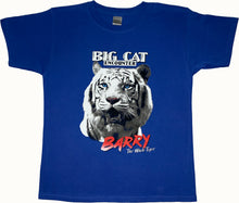 "Load image into Gallery viewer, Children's ""Barry White the Tiger"" Royal Blue T-Shirt"