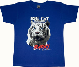 "Children's ""Barry White the Tiger"" Royal Blue T-Shirt"