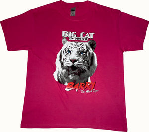 "Children's ""Barry White the Tiger"" Pink T-Shirt"
