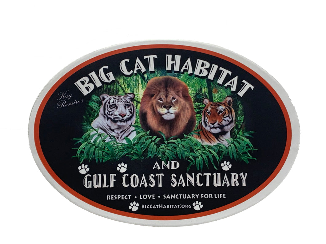 Big Cat Habitat Sticker