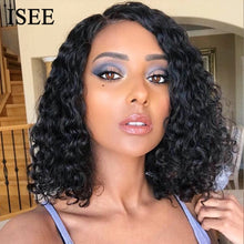 Load image into Gallery viewer, [A865] 40CM Indian Deep Wave Short Bob Human Hair Wigs 13X4 Lace Frontal Wig Deep Wave Bob Lace Front Wigs For Women