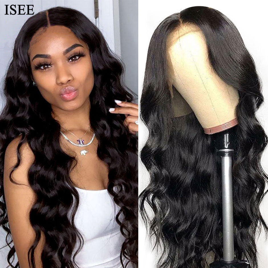 [A816] Body Wave HD Lace Frontal Wigs For Women Peruvian Body Wave Human Hair Wigs 150% Density Transparent Lace Front Wigs
