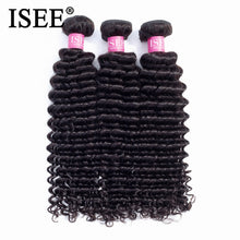Load image into Gallery viewer, [H221] Brazilian Deep Wave Human Hair Bundles Natural Color Free Shipping 3/4 Bundles Hair Extension Brazilian Hair Weave Bundles