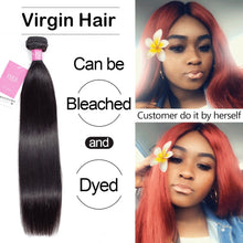Load image into Gallery viewer, [D888] Brazilian Straight Hair Weave Bundles 100% Unprocessed Virgin Human Hair Extension 10-36 inch Can Buy 1/3/4 Bundles