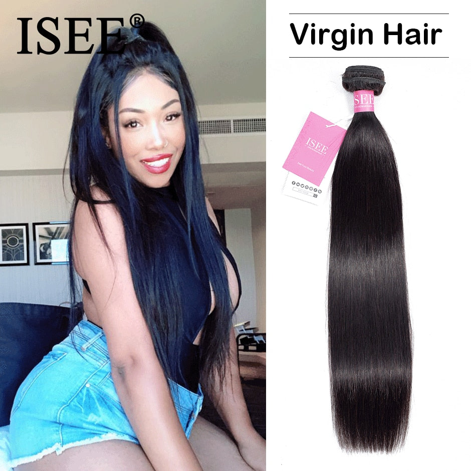 [D888] Brazilian Straight Hair Weave Bundles 100% Unprocessed Virgin Human Hair Extension 10-36 inch Can Buy 1/3/4 Bundles