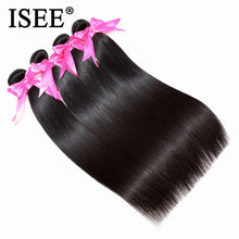 Load image into Gallery viewer, [D898]  Brazilian Straight Hair Weaves 100% Human Hair Bundles Remy Hair Extension Natural Color 1Bundle