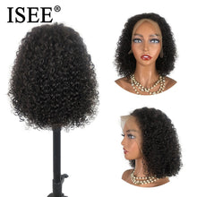 Load image into Gallery viewer, [A837] 40CM Curly Bob Lace Front Wigs For Women  Brazilian Kinky Curly Lace Front Wig Lace Frontal Wig Curly Human Hair Wigs