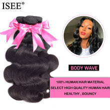 Load image into Gallery viewer, [G612] 3 Bundles Brazilian Body Wave Hair Extension Remy Human Hair Nature Color Free Shipping Brazilian Hair Weave Bundles