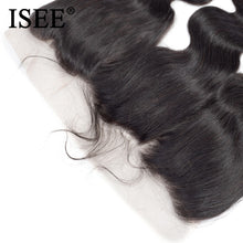 Load image into Gallery viewer, [I114] Brazilian Body Wave Lace Frontal Closure 13*4 Swiss Lace Remy Human Hair Weaves Ear To Ear Free Part With Baby Hair