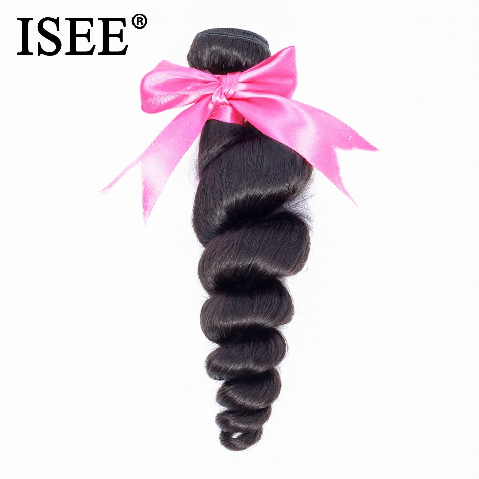 [Z004] Brazilian Loose Wave 100% Human Hair Bundles Unprocessed Virgin Hair Extension Nature Color Free Shipping Can Be Dyed