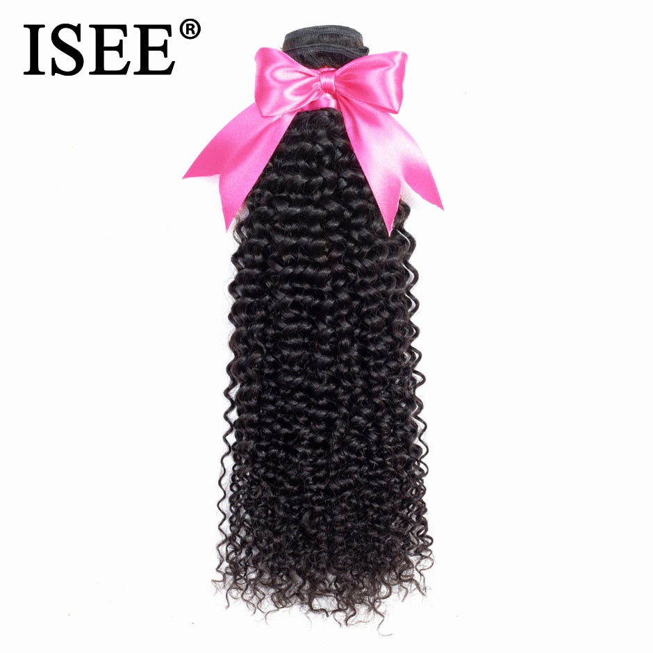 [F072] Kinky Curly Virgin Hair Extension 100% Human Hair Bundles Malaysian Hair Weaves Can Buy 3 or 4 Bundles Nature Color