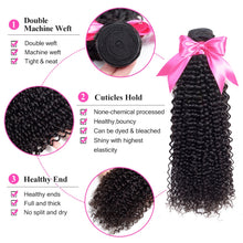 Load image into Gallery viewer, [F072] Kinky Curly Virgin Hair Extension 100% Human Hair Bundles Malaysian Hair Weaves Can Buy 3 or 4 Bundles Nature Color