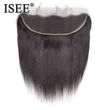 Load image into Gallery viewer, [I125] Malaysian Straight Hair Frontal Lace Closure 13*4 Ear to Ear Free Part Closure 130% Destiny Remy Hair Free Shipping