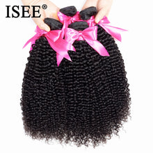 Load image into Gallery viewer, [F061] Mongolian Kinky Curly Hair Extension 100% Human Hair Bundles Unprocessed Virgin Hair Weaves 1/3/4 Bundles Nature Color