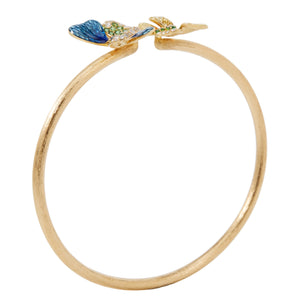 BUTTERFLY 18-karats yellow gold, tsavorite and diamond bangle - heting-jewellery