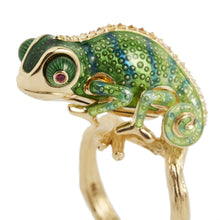 將圖片載入圖庫檢視器 INSECT 18 karats gold tree ring - heting-jewellery