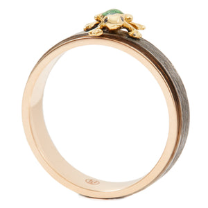 LITTLE CREATURES 18-karats black and rose gold, black diamond ring - heting-jewellery