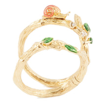 Load image into Gallery viewer, LITTLE CREATURES 18-karats rose gold, yellow & white diamond double ring - heting-jewellery