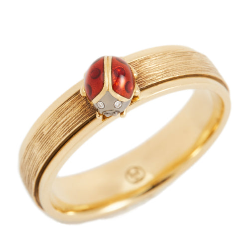 LITTLE CREATURES 18-karats brown and yellow gold, diamond ring - heting-jewellery