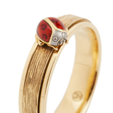 Load image into Gallery viewer, LITTLE CREATURES 18-karats brown and yellow gold, diamond ring - heting-jewellery