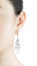 Load image into Gallery viewer, DEWDROP 18 karat white gold, jade cabochons and fancy diamond earrings - heting-jewellery