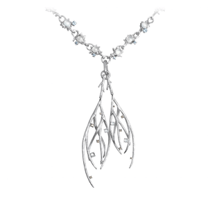 DEWDROP 18 karat white gold, jade and sapphires necklace - heting-jewellery