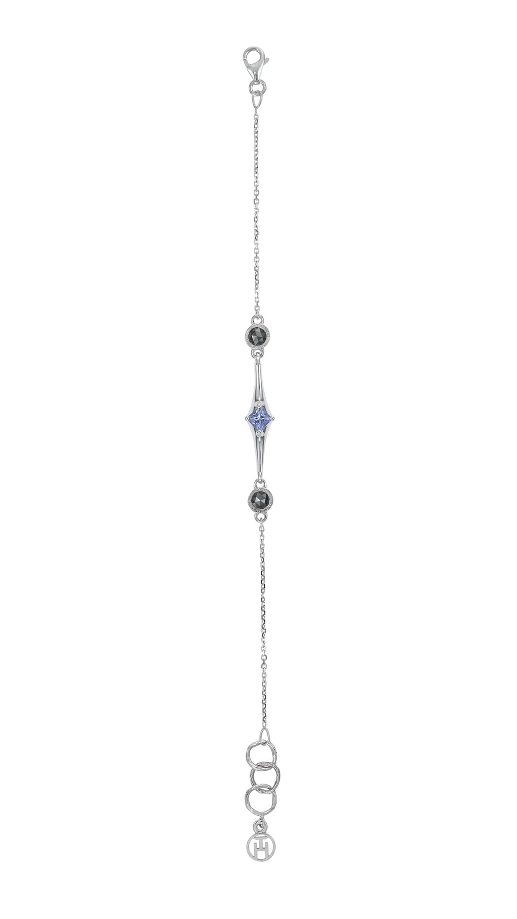 TREE OF LIFE 18-karat white gold, diamonds and tanzanite bracelet - heting-jewellery