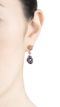 將圖片載入圖庫檢視器 MUSHROOM 18 karat rose gold, diamond, quartz and purple enamel earrings - heting-jewellery