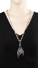 Load image into Gallery viewer, DEWDROP 18 karat white gold, jade and sapphires necklace - heting-jewellery