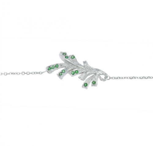 PINECONE 18-karat white gold, tsavorites bracelet - heting-jewellery